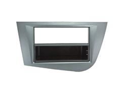 1DIN Radioramme SEAT (Leon), lys sølv, 2008 til 2010