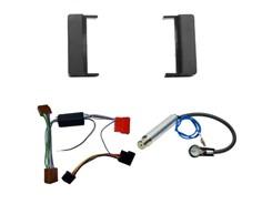 1DIN Radiokit AUDI (A4, A6), sort