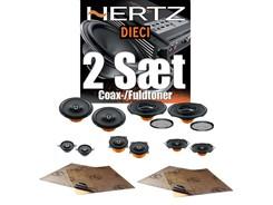 2 sæt Hertz højttalere - Coax/Fuldtoner