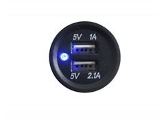 eSOCKET 2x USB-terminal, Rund