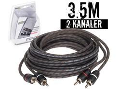 Stage1 Signalkabel 3.5 mtr, 2-kanals