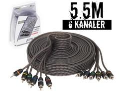 Stage1 Signalkabel 5.5 mtr, 6-kanals