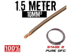 10mm² OFC Strømkabel, Grå, 1.5 mtr