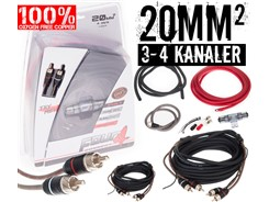 20mm² OFC kabelsæt m. 2 stk signalkabler