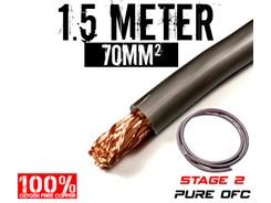 70mm² OFC Strømkabel, Grå, 1.5 mtr