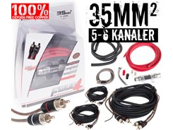35mm² OFC kabelsæt m. 3 stk signalkabler