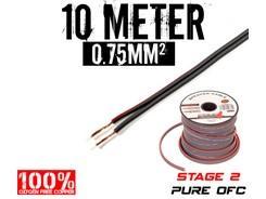 0,75mm² OFC Højttalerkabel, 10 mtr