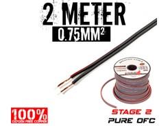 0,75mm² OFC Højttalerkabel, 2 mtr
