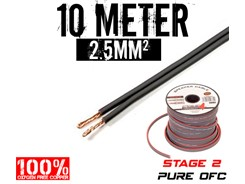 2,5mm² OFC Højttalerkabel, 10 mtr