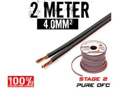 4mm² OFC Højttalerkabel, 2 mtr