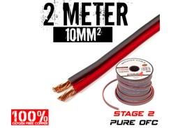 10mm² OFC Højttalerkabel, 2 mtr