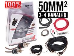 50mm² OFC kabelsæt m. 2 stk signalkabler