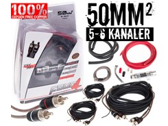 50mm² OFC kabelsæt m. 3 stk signalkabler