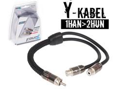 Stage3 Y-Kabel, 1Han>2Hun - 1 stk