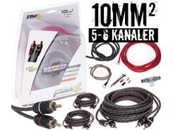 10mm² kabelsæt m. 3 stk signalkabler