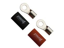 Ringkabelsko 20mm², 2 stk, Rød/Sort - M8