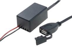 USB-adapter og forlænger 12V/24V>5V (2.1A)