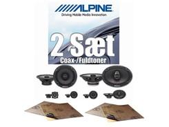 2 sæt Alpine højttalere - Coax/Fuldtoner
