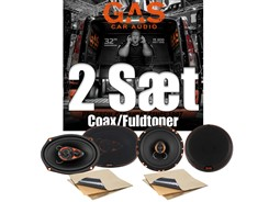 2 sæt GAS højttalere - Coax/Fuldtoner