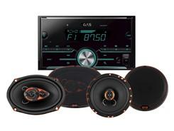 2DIN Autoradio m. 2 sæt højttalere